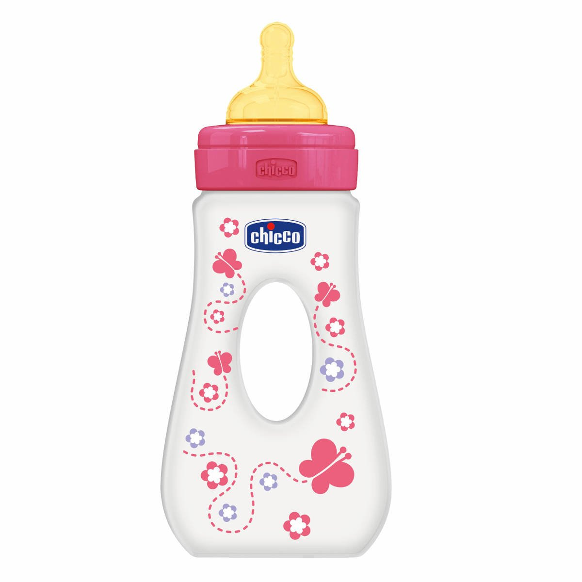 Chicco Baby Bottle Girl Walking With Teat-Rubber 240ml CHICCO (ARTSANA SpA) 00075724110000