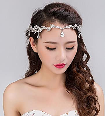 alloy Wedding Headband Head Chain Hair Jewelry Tiara Rhinestone Tiaras Bridal Bridesmaid Hair Accessorie Headpiece