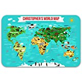 Paper Themes Personalised Educational Placemats For Children - World Map