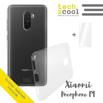 TechCool® Set Funda Silicona para Xiaomi Pocophone F1 ...