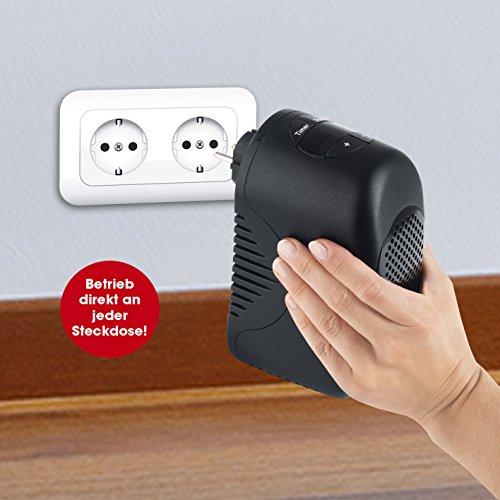 Mini calefacción de Easymaxx, Calefacción eléctrica, 300 W, negro, RMS, pequeño y manejable: Amazon.es: Bricolaje y herramientas