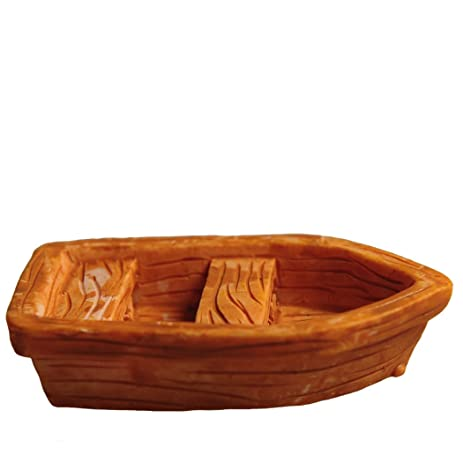 ICNBUYS Zen Garden Accessories Wooden Boat
