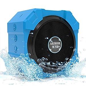 ARMOR MiNE Waterproof Bluetooth Wireless Speaker for Smartphone - Brilliant Blue