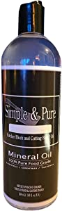 Pure Food Grade Mineral Oil Lubricating, Conditioning, Finishing Oil for Cutting Boards, Butcher Block, Countertops, Wood & Bamboo Boards & Utensils, Wood Surfaces, Made in USA (500 ml / 16.9 Fl oz)