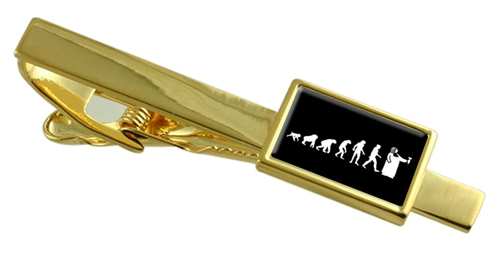 Select Gifts Evolution Ape to Man Judge Gold-Tone Tie Clip Pouch