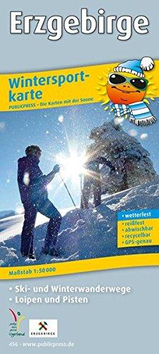 Erzgebirge: Wintersportkarte mit Ski- und Winterwanderwegen, Loipen und Pisten, wetterfest, reissfest, abwischbar, GPS-genau. 1:50000 (Wintersportkarte / WINK)