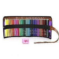 MEGICOT 色鉛筆 50色 油性色鉛筆 塗り絵 描き用 収納ケース付き 鉛...