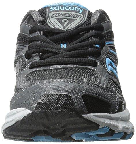 Saucony cohesión de la mujer tr9-w Running Shoe Grey/Black/Aqua