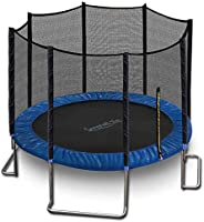 SereneLife 10ft ASTM Approved Trampoline with Net Enclosure – Stable, Strong Kids and Adult Trampoline with Ne