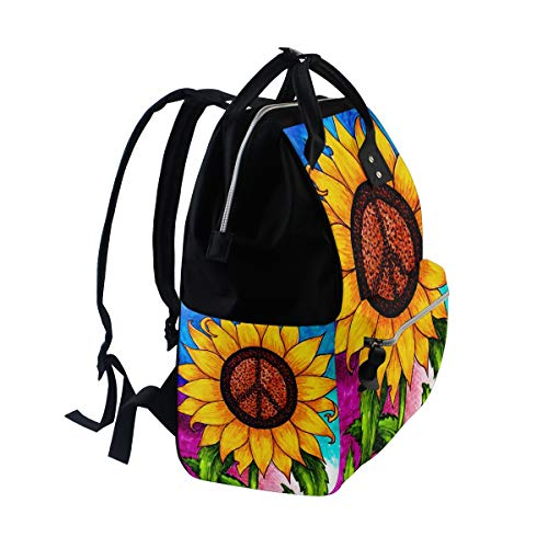 for Function Art Women Mummy Sunflower Multi6 Muti Canvas Large Capacity Bag Travel Backpack Retro Bag 1pwP1qf