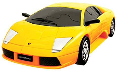 3D PUZZLE WORKS I 64 Piece Car CRYSTAL Puzzles 1:32 U0026quot;Lamborghini  Painted