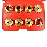 Big Horn 19604 Brass Router Bushing Set, 9-Piece