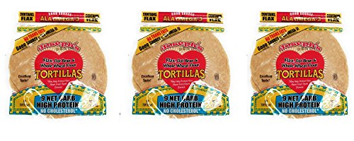 (Value 3 Pack: Joseph's Low Carb Tortillas, Flax, Oat Bran & Whole Wheat, 8 Inch, 6)
