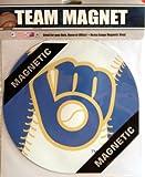 "MLB Milwaukee Brewers 7 3/4"" Baseball Team Logo Car Magnet"