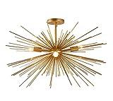 Decomust 27″ X 15″ Inch Starburst Chandelier Astra Sputnik Light Satellite Ceiling Light Fixture , Flush Mount Light , Brass Copper Gold Color For Sale