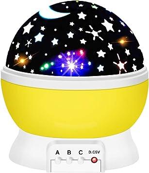 Amazon.com: OuWen - Proyector de luz nocturna giratoria para ...