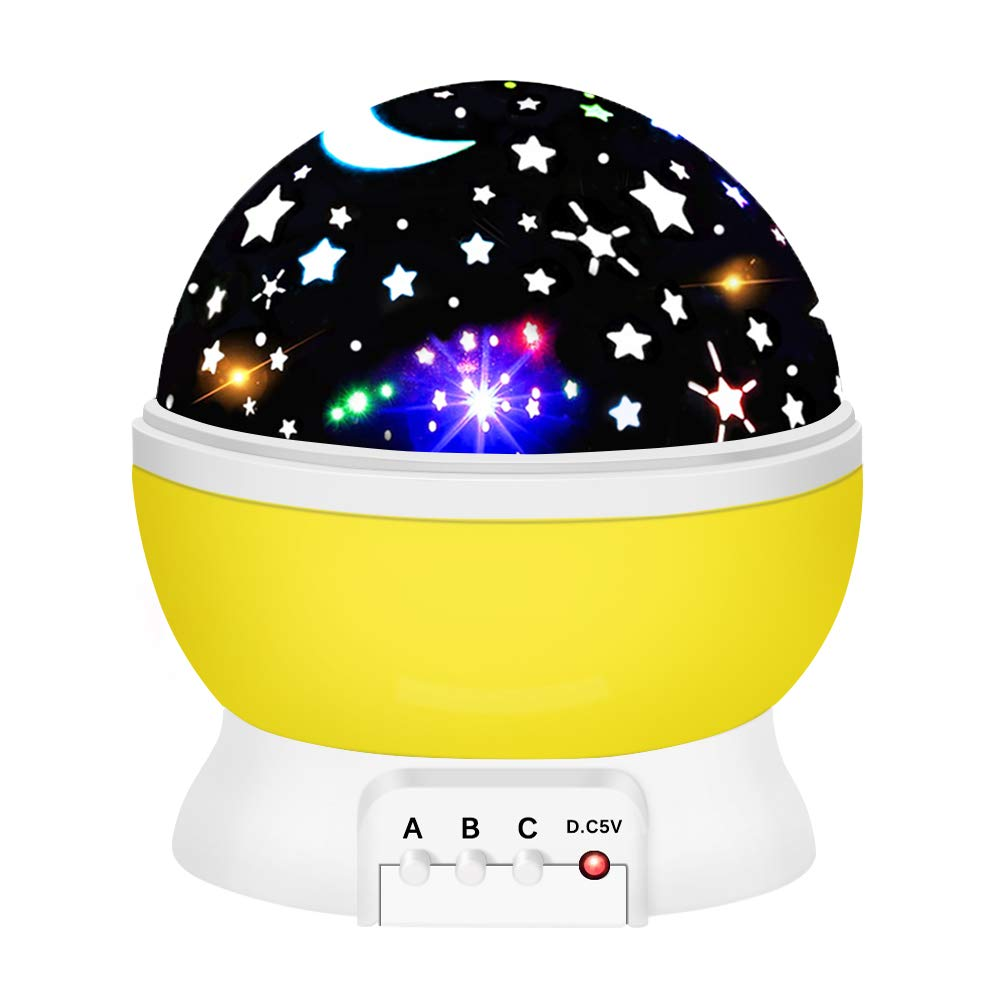 Dreamingbox Night Light for Kids, Star Night Lights for Kids Educational Toys for 1-10 Year Old Boys 2019 Birthday Presents Gifts for 1-10 Year Old Girls Boys Yellow TGUSYD03