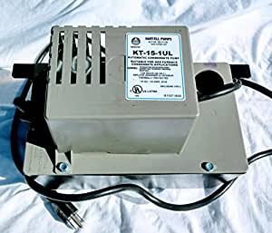 KT-15-1UL Hartell Condensate Pump for air conditioners or gas furnaces 15' lift