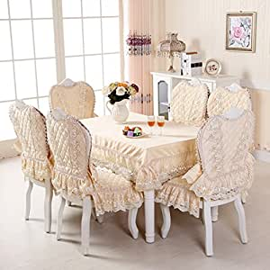 European Table Cloth Upholstery Seat Cover Set High End Coffee T