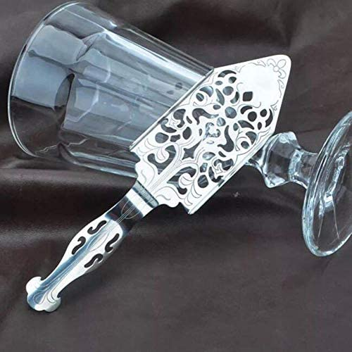 OHOME 1 PC Absinthe Spoon Stainless Steel Retro Cocktail Absinthe Filter Spoon Alcohol Making Flame Strainer Bar Utensils