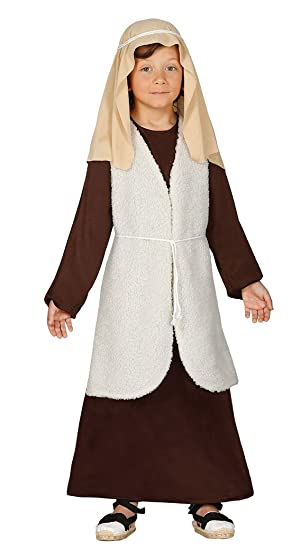Guirca- Disfraz infantil de Hebreo pastor, Color marrón, 5-6 años (42536.0)