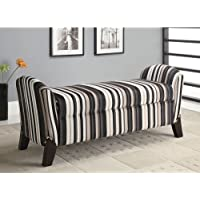 Coaster Home Furnishings Transitional Bench, Cappuccino/Multi-Color