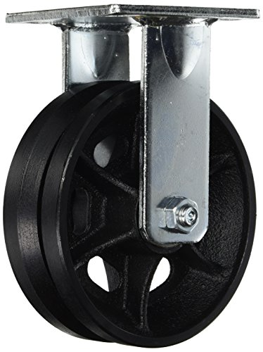 RWM-Casters-45-VIR-0620-R-45-Series-7-12-High-6-V-Groove-Wheel-Rigid-Caster