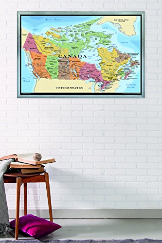 Trends International Map – Canada Wall Poster, 24.25 x 35.75 , Multicolor