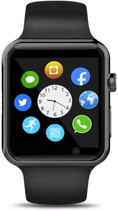 Bluetooth Smart Watch Fitness Tracker, Touch Screen Smart Wrist Smartwatch Support SIM SD Card Slot Make/Answer Phone Camera Pedometer Compatible ...