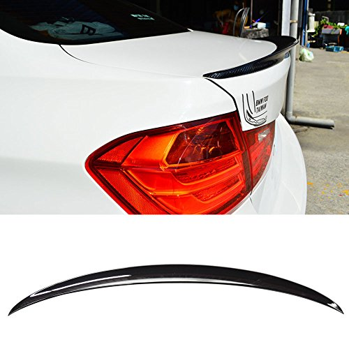 Pre-painted Trunk Spoiler Fits 2012-2018 BMW 3-Series F30 | P Style ABS Painted #475 Black Sapphire Rear Tail Lip Deck Boot Wing Other Color Available By IKON MOTORSPORTS | 2013 2014 2015 2016