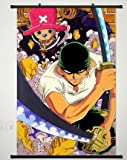 chopper wall scroll - Wall Scroll Poster Fabric Painting For Anime One Piece Roronoa Zoro & Tony Tony Chopper 048 S