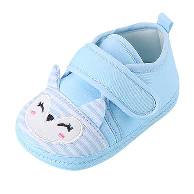 Amazon.com: Zapatos de bebé para niños y niñas, suela de ...