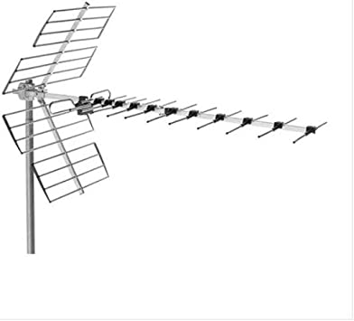 Antena UHF, canales 21 a 48, 45 elementos, G 14db, grupo 5 X ...