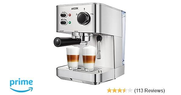 Amazoncom Aicok Espresso Machine Cappuccino Maker Latte Coffee