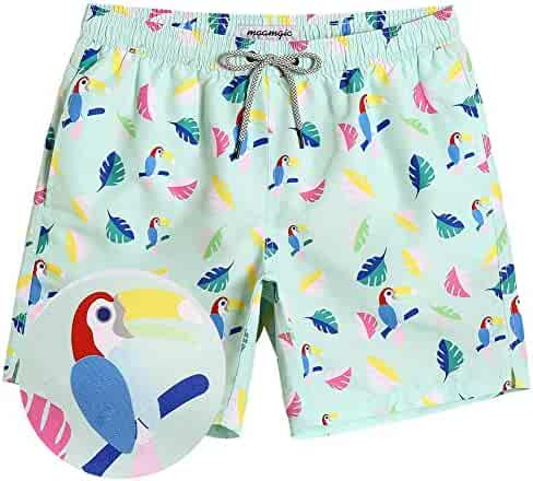 3e6c1982a30 MaaMgic Mens Boys Short Swim Trunks Bright Colored Swim Suits Shorts  Bathing Suits for Vacation