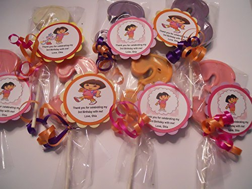 12 Nick Jr Theme Party Favor Dora the Explorer Boots 3rd Birthday Lollipops