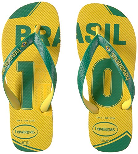 Pictures of Havaianas Teams Iii-Brazil Sandal Yellow/Green 9.5 M US 4