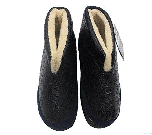 Pantofole Isolate Da Uomo Con Pelliccia Blu