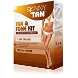 Skinny Tan - Tan & Tone Kit - No Orange, No Streak, Cellulite Reduction Lotion All Skin Types review