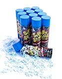 Silly String Gender Reveal Baby Shower Party Streamers - 12 Pack (3 ounce Cans) (BLUE)