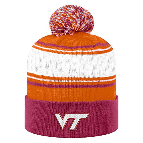 Top of the World NCAA Virginia Tech Hokies Unisex NCAA Winter Knit Hat Ambient Warm, Maroon