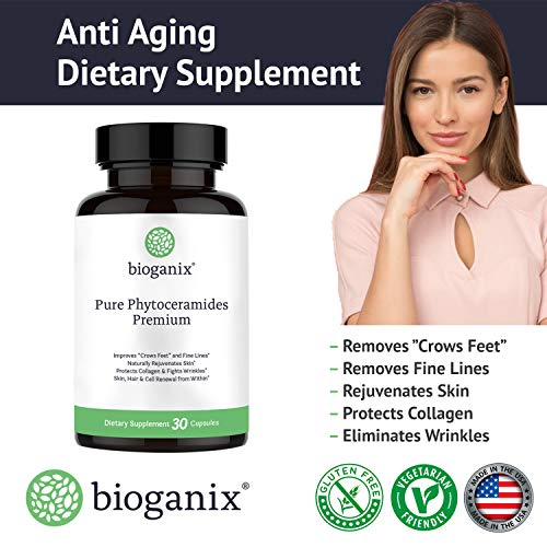 51AkS2oLuJL - Bioganix Anti-Aging Supplement with Phytoceramides and Vitamin A, C, D & E, 30 Capsules