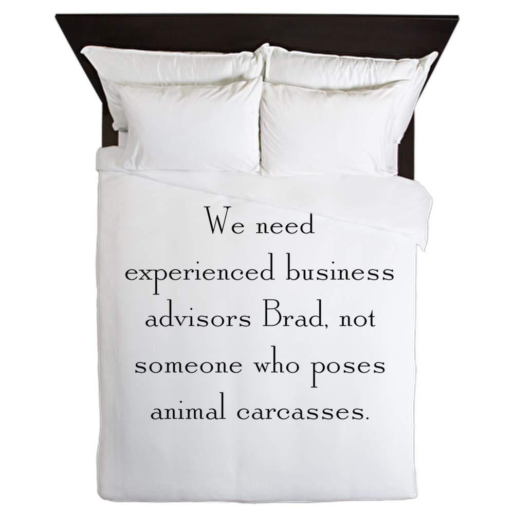 CafePress Business Advisors Queen Duvet Cover, Printed Comforter Cover, Unique Bedding, Microfiber