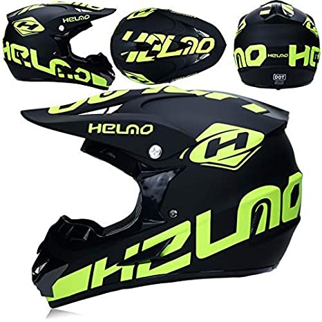 Motorrad Motocross Helme /& Handschuhe /& Brillen D.O.T Standard Kinder Quad ATV Go Kart Helm