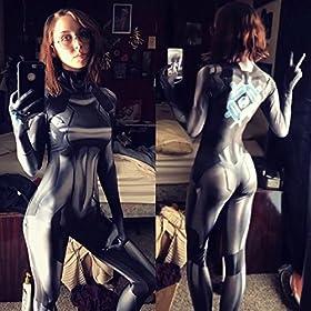 - 51AkSXEbyPL - CosplayLife Zero Suit Samus Cosplay Costume | Samus Aran Suit | Metriod Costume | Samus Zero Suit Costume