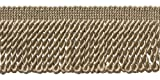 DecoPro 10 Yard Value Pack of Sandstone 2.5 Inch Bullion Fringe Trim, Style# EF25 Color Beige - A10 (30 Ft/9 Meters)