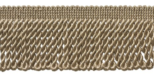 2.5 Inch Bullion Fringe Trim, Style# EF25 Color: SANDSTONE - A10, Sold By the Yard