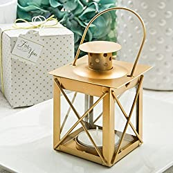 15 Love Lights The Way Luminous Lantern In A Matte Gold Finish