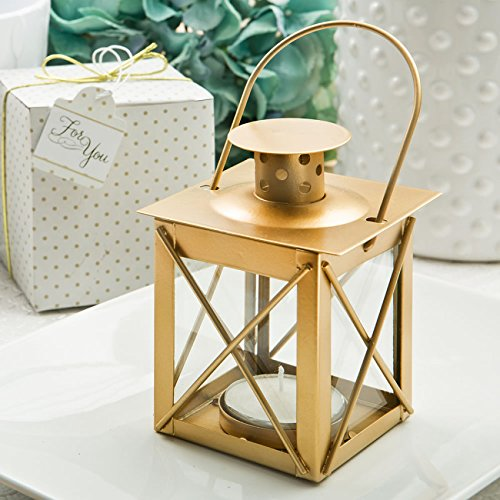 50 Love Lights The Way Luminous Lantern In A Matte Gold Finish by Fashioncraft