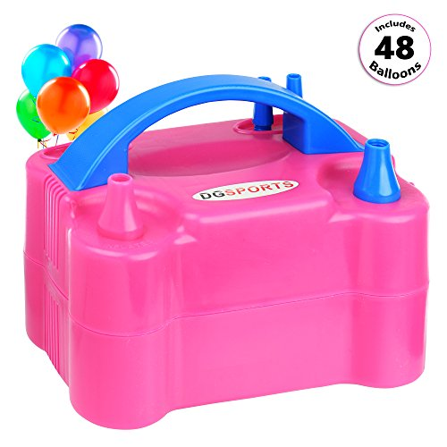 Portable Dual Nozzle Electric Balloon Pump 600W 110V Balloon Blower Air (Inflate Balloons)